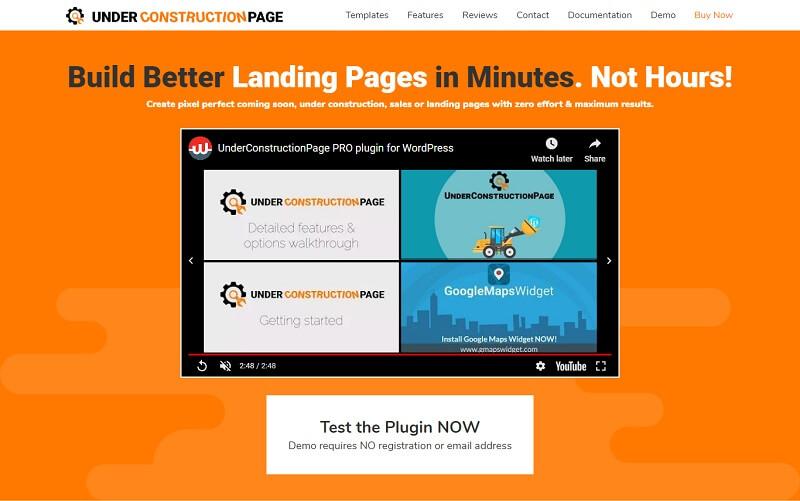 WordPress UnderConstructionPage Plugin