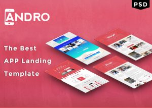 Andro – App Landing Page PSD