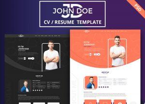 John Doe Personal ResumeCV  PSD Template