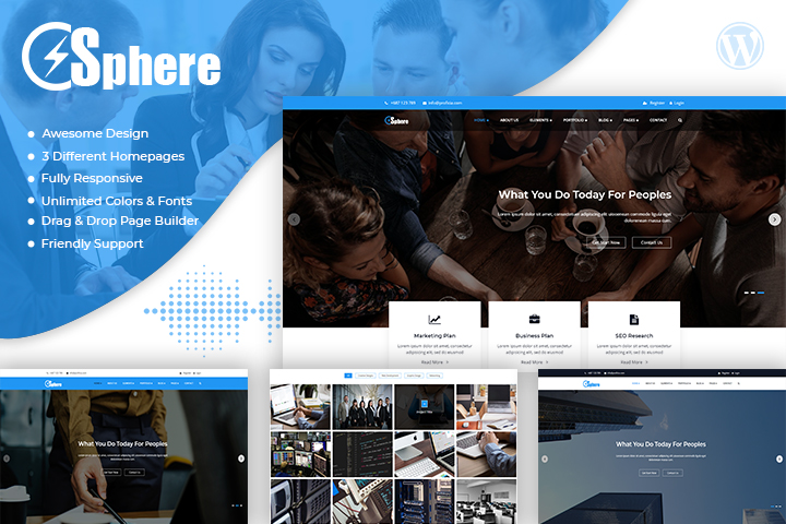 Sphere Premium Wordpress Theme